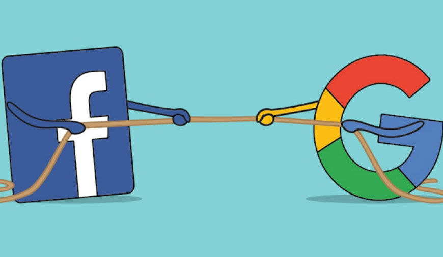 Facebook vs. Google: Similar models, diverging perspectives